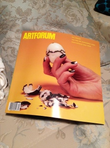 Still from Camille Henrot's Grosse Fatigue (2013) gracing the cover of Artforum September 2013 issue