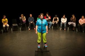 Jérôme Bel,《残疾人剧场》表演现场,2013